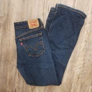 Vintage Levis 518 superlow boot cut jeans